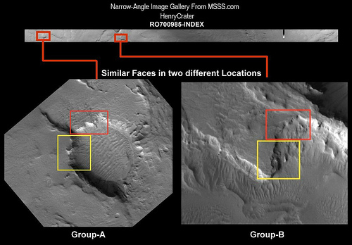2983456648 906dcd166e Similar Face carvings in two separate locations in Henry Crater?