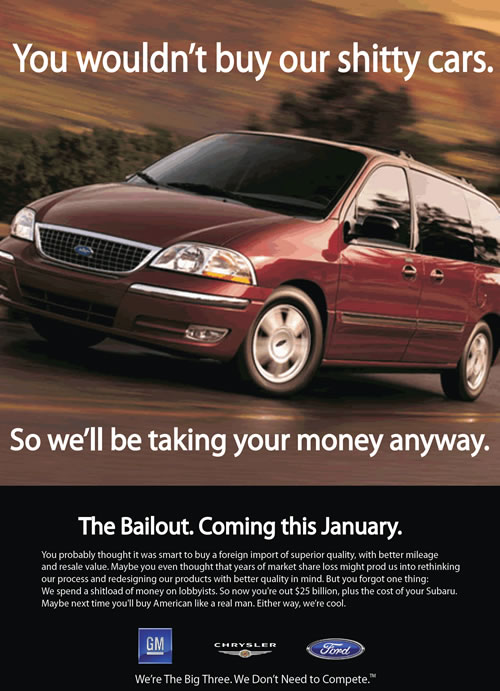 bailoutyk21 To: the American people     From: US Automakers