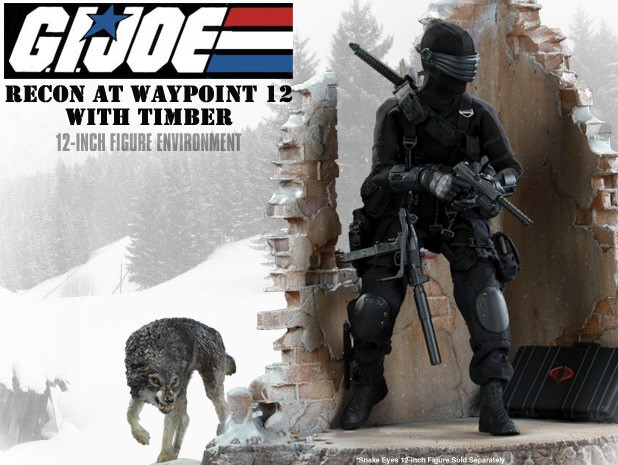 snakeeyes G.I. Joe 12 Inch Figure with Environment