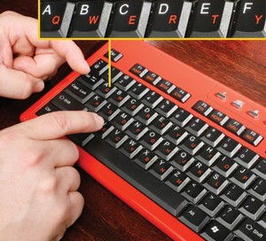huntandpeckkeyboard small Hunt and Peck Keyboard – the keyboard designed for the one finger typist The Red Ferret Journal