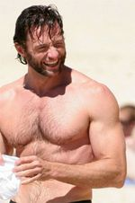 hugh jackman chest Hugh Jackman to Play Man with Testicles Attached to His Chin