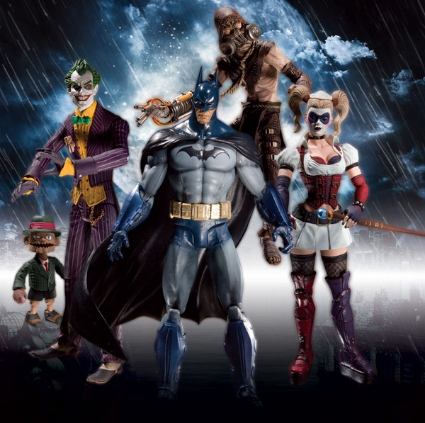 BM.AA .Group  scaled 600 Arkham Asylum Action Figures