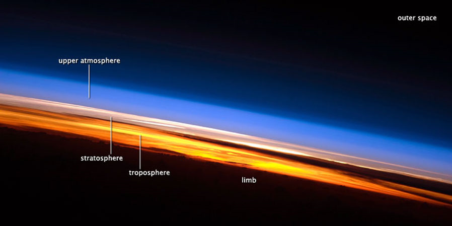 apod Sunset from the ISS