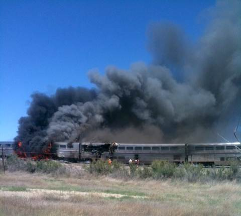 110624 train hmed 150p.grid 8x2 Fatal collision leaves Amtrak train in flames