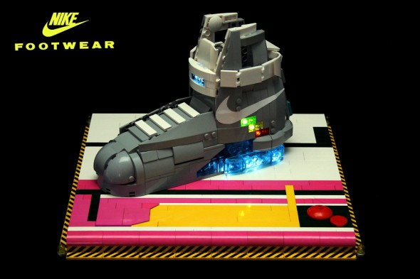 Nike MAG in LEGO 590x393 Orion Pax builds his own Back to the Future Nike MAGs from LEGO