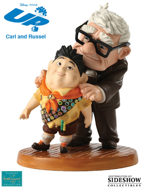 901656 press01 001 UP! Carl and Russell : Meritorious Moment Porcelain Statue