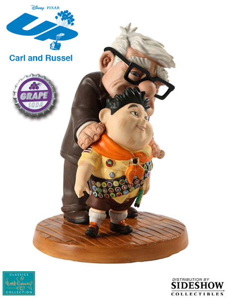 901656 press03 001 UP! Carl and Russell : Meritorious Moment Porcelain Statue