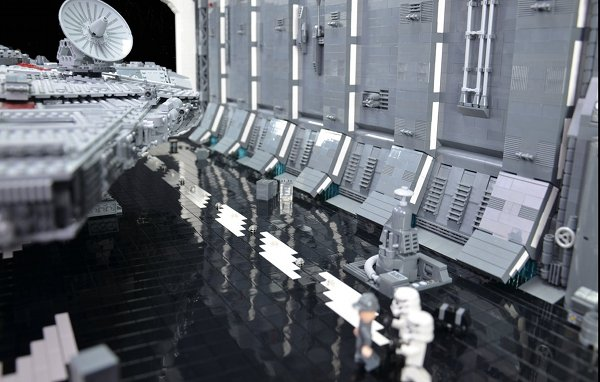 docking bay 3 Man Builds a LEGO Docking Bay Big Enough For The Ultimate Millennium Falcon