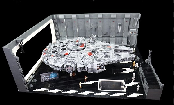 docking bay Man Builds a LEGO Docking Bay Big Enough For The Ultimate Millennium Falcon