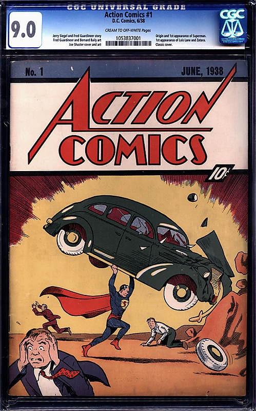 action comics number 1 Superman Debut Comic Stolen From Nic Cage Sells For a Record $2.16 Million