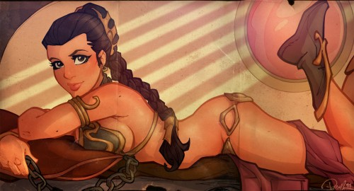 princess leia centerfold by blitzcadet d3go4ns 500x270 Princess Leia Centerfold Wallpaper star wars Sexy