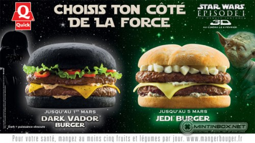 quick burger star wars 1 500x281 STAR WARS   JEDI BURGER