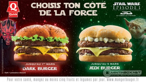quick burger star wars 2 500x281 STAR WARS   JEDI BURGER