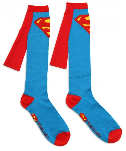 ec37 superman caped socks 417x500 Superman Caped Socks