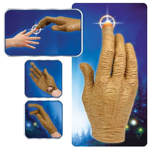 ET light up hand E.T. Hand with Light Up Finger Prop Replica