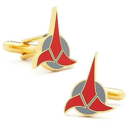 CUSTKLGGLlg Star Trek Klingon Cufflinks