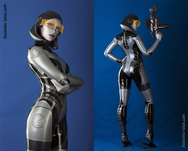 "edi1 An Amazing Latex ""Mass Effect"" EDI Cosplay"