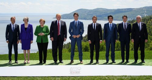 g7 summit 500x263 This innocent photo may have just exposed an awkward truth about Donald Trump.