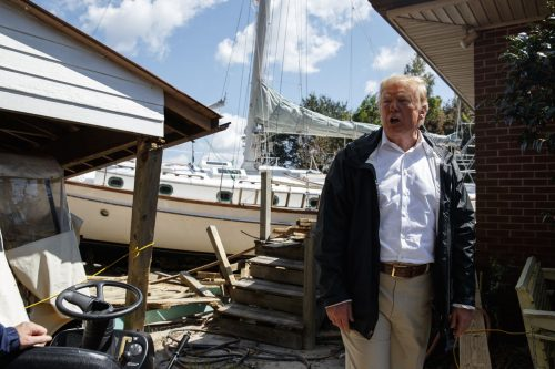 DP4WZRF4GEI6RASD6OXJZGLFRI 500x333 'At least you got a nice boat out of the deal,' Trump tells N.C. man during post Florence tour