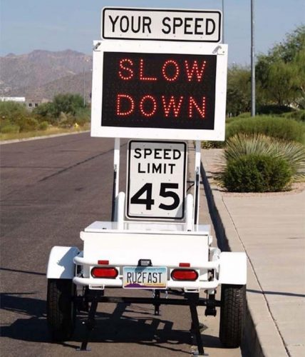 Fast 870 Slow Down1 428x500 That sign telling you how fast you're driving may be spying on you