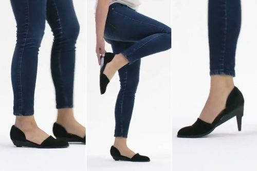 flats to heels 500x333 High tech heels transform into flats with the push of a button