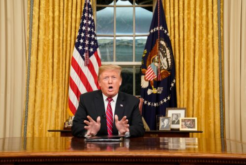 donald trump 1 500x336 CBS Goes With 'The Price Is Right' Over Conclusion Of President Trump's Emergency Speech