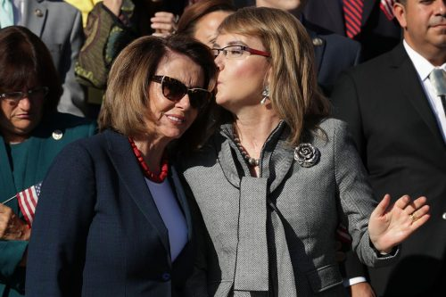 gettyimages 857487546 500x333 NRA facing heat after publishing Target Practice magazine headline next to picture of Pelosi, Giffords