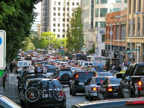 seattle traffic jam 500x375 All the Bad Things About Uber and Lyft In One Simple List