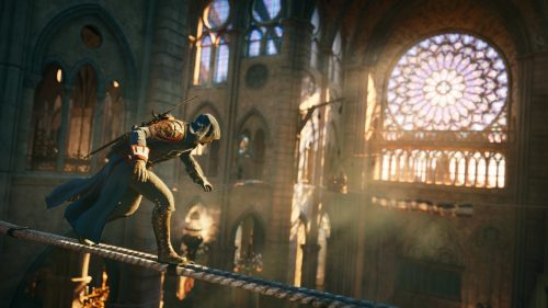 Assassins Creed Unity Cathedral 500x281 Assassin's Creed Unity goes free in honour of Notre Dame
