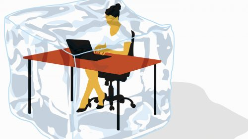 gettyimages 176636127 wide 6f03cd64772a27cf2663a7c1202be76e8e25987b 500x281 Study Shows Freezing Office Temperatures Affect Womens Productivity