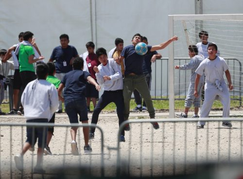 Immigrant Children Detained 45877.jpg 12e70 4039 500x368 Trump administration cancels English classes, soccer, legal aid for unaccompanied child migrants in U.S. shelters