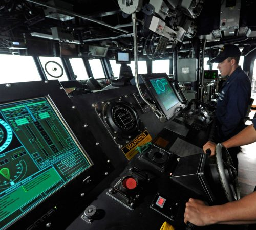DDG 105 USS Dewey 040 500x450 Navy Reverting DDGs Back to Physical Throttles, After Fleet Rejects Touchscreen Controls   USNI News