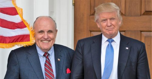 TrumpGiuliani e1526498021903 500x261 Former Federal Prosecutors Call for Giuliani to Be Disbarred, Possibly Indicted