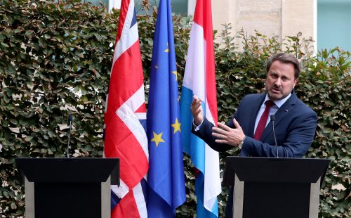 boris missing 500x310 Boris Johnson chickens out of press conference amid noisy protests, leaving empty podium next to Luxembourgs PM