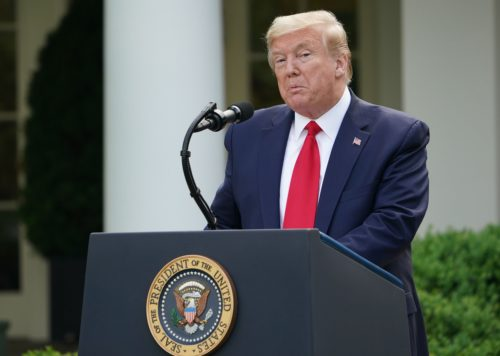 donald trump coronavirus white house briefing 0 500x356 Trump says he takes no responsibility for people ingesting disinfectant despite telling them to
