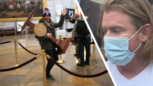 8a98fce0 44fd 4425 9632 0ffda7a78d2e 1140x641 500x281 Im not a magician: Lawyer for man pictured with lectern in Capitol riot says photo a problem