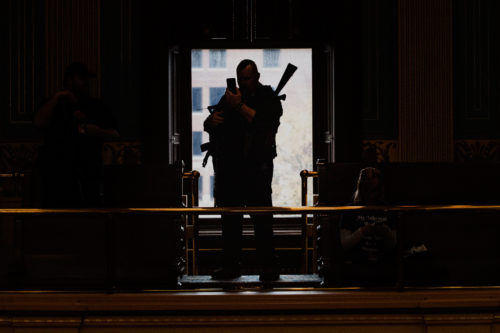 AP20123116874119c 500x333 Michigan Bans Open Carry of Guns in Capitol Building as Threats of Violence Increase