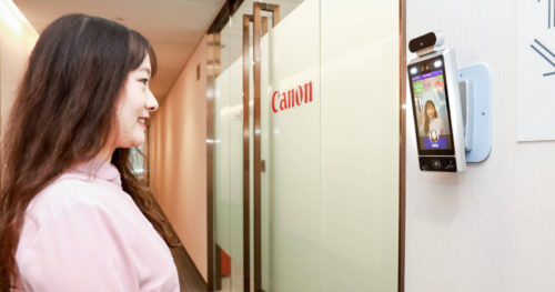 canonsmilecamera 500x263 Canon Uses AI Cameras That Only Let Smiling Workers Inside Offices